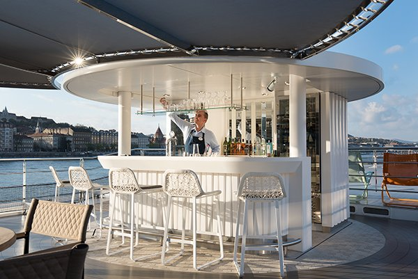 Crystal River Cruises - Top Deck Bar