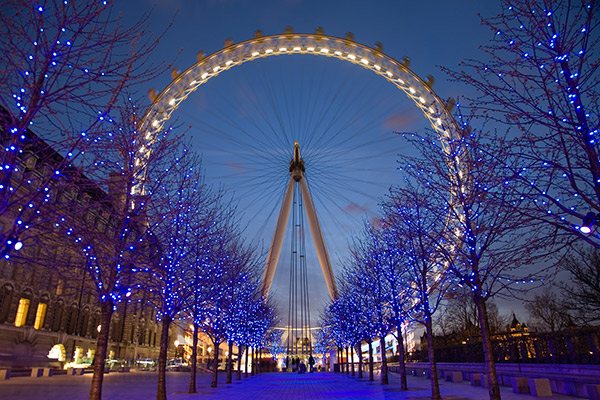London Eye Twilight