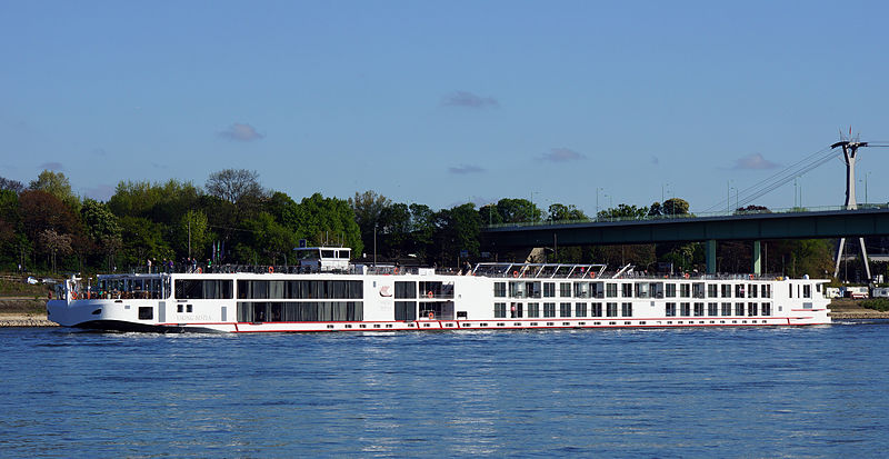 A Viking cruise ship in Cologne, Germany