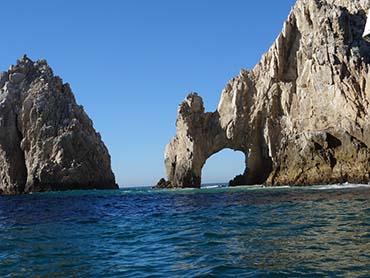 Rock formations at Cabo San Lucas, a popular Mexico cruise destination
