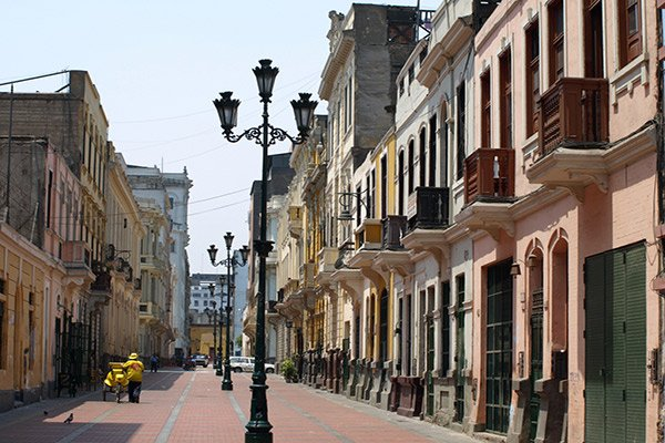 Colonial Streets in Lima Peru