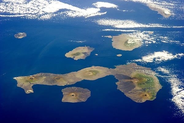 Aerial View of Galapagos Islands