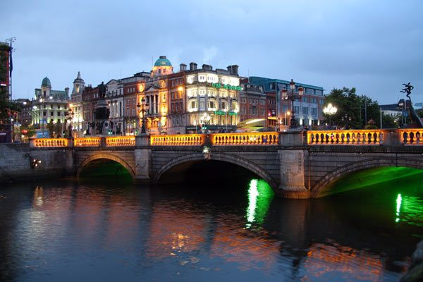 Dublin, Ireland at Night