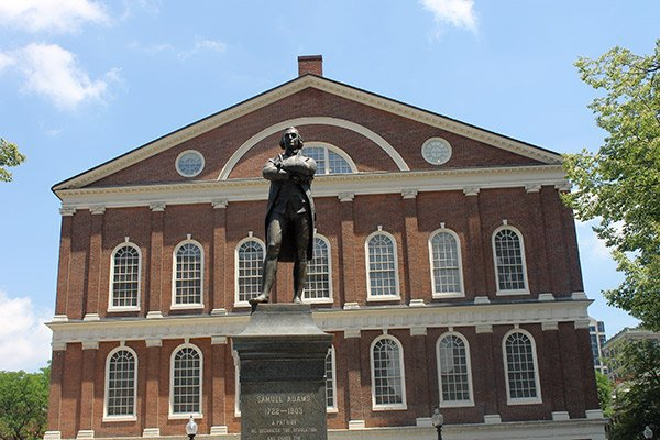 Samuel Adams at Faneuil Hall
