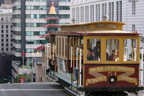 San Francisco Cable Car at Chinatown
