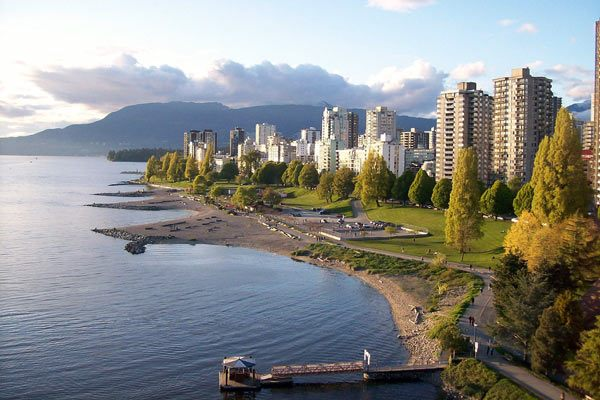 view of Vancouver's English Bay