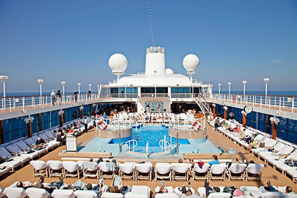 Azamara Cruise Ship - Pool Deck