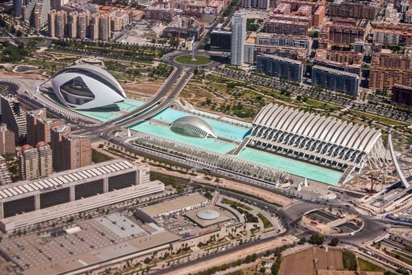 City of Arts and Sciences in Valencia Spain