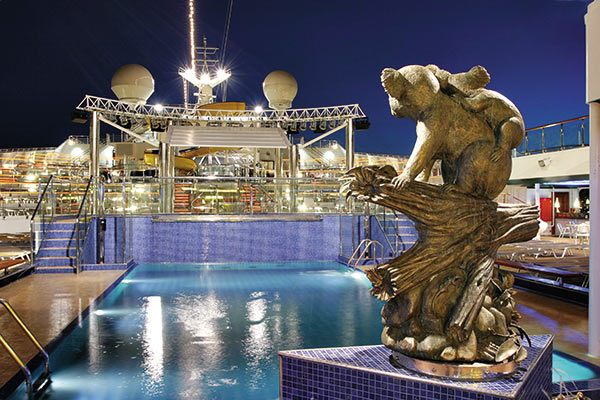 Costa Cruises - Pool Deck At Night