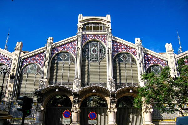 Historic central Market of Valencia Spain