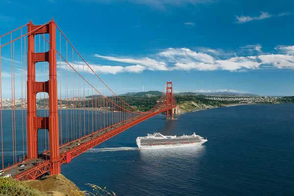 Princess Cruises- Golden Gate Bridge