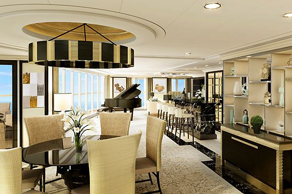 Regent Cruises - Suite Living Area