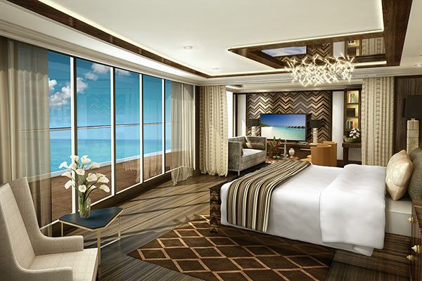 Regent Cruises - Suite Master Bedroom