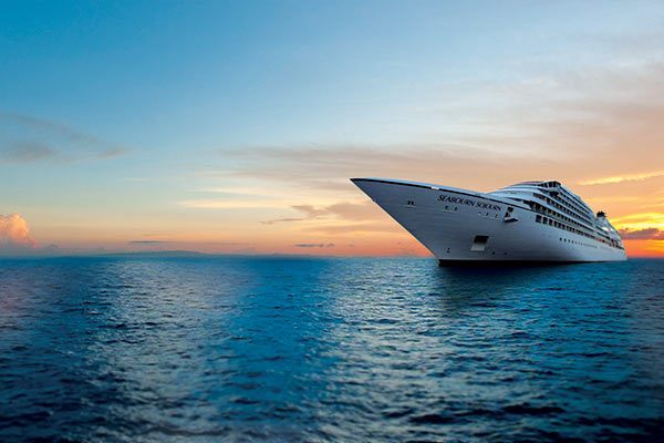 Seabourn Cruise Ship - Sojorn At Sunset