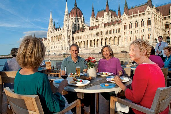 Viking River Cruises - Aquavit Terrace Onboard In Budapest