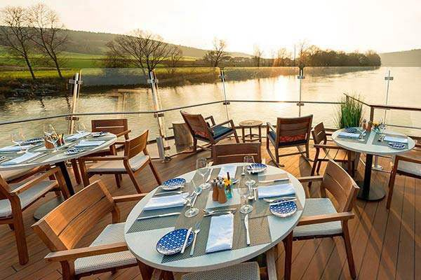 Viking River Cruises - Aquavit Terrace At Sunset