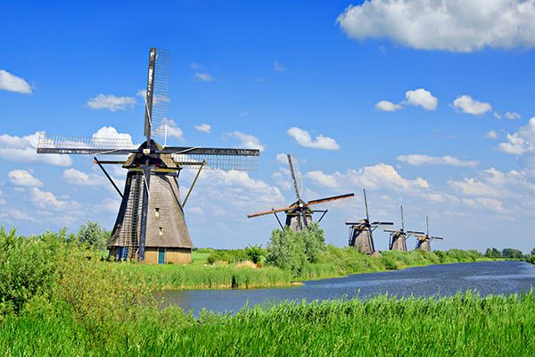 Viking River Cruises - Windmills In Kinderdiik Netherlands