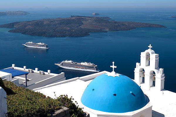 Viking Ocean Cruises - Viking Star & Viking Sea In Santorini